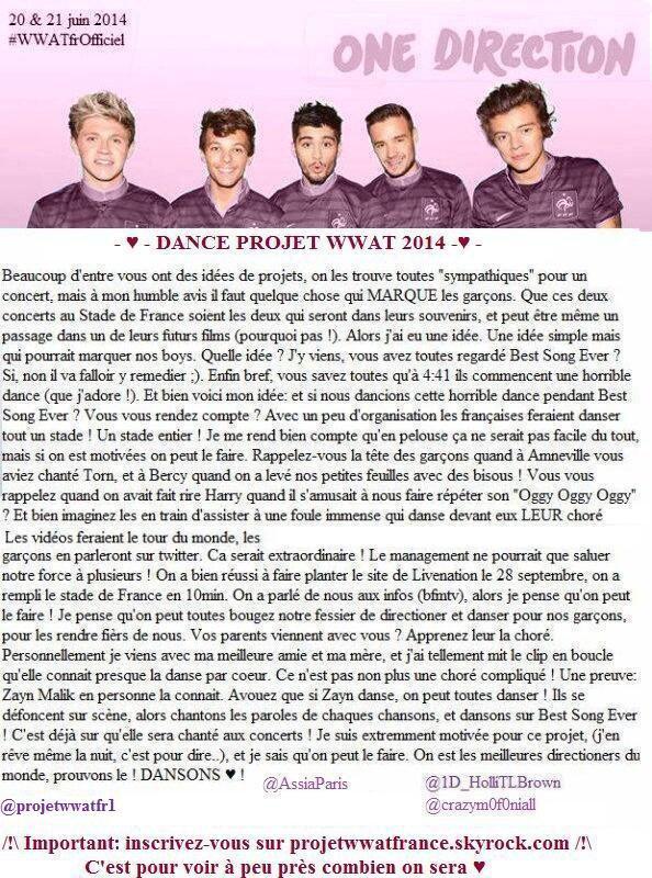 Important : Projets pour le concert en France !