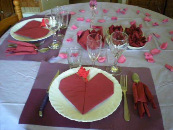 D co pour diner en amoureux l 39 art de la table - Table amoureux ...