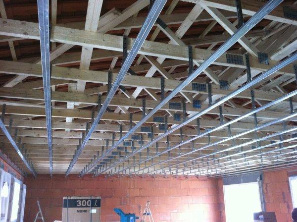 mercredi 8 fevrier 2012 pose des suspent et rail du plafond fini avec moi steph et jean marc. Black Bedroom Furniture Sets. Home Design Ideas
