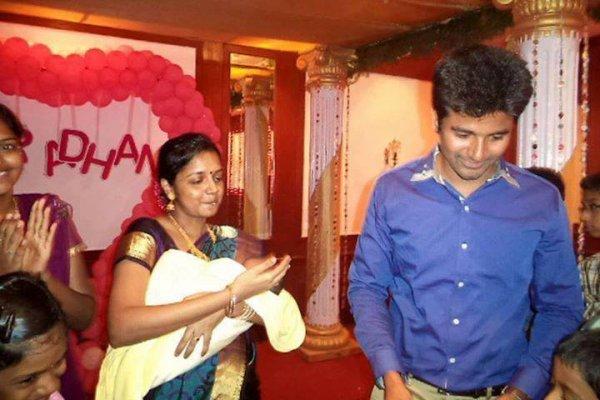 Sivakarthikeyan's baby Aaradhana naming function ...
