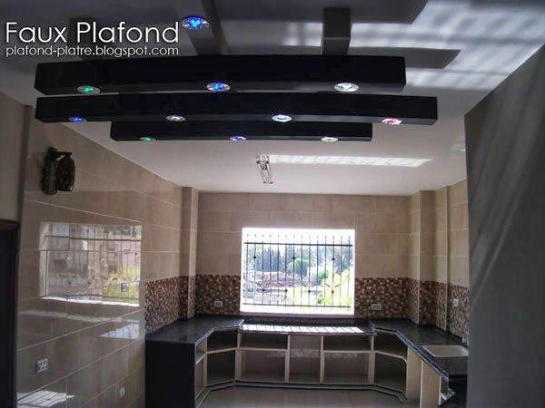 Faux plafond pour cuisine faux plafond suspendu et tendu for Photo faux plafond pour cuisine