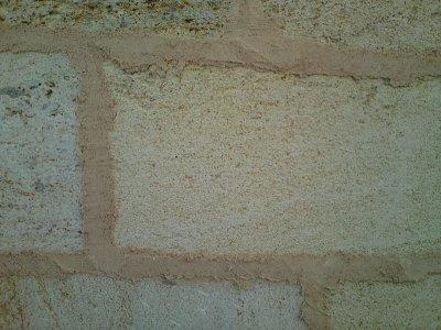 Joint chaux sable roux ciment avant le brossage j j le roi du mortier - Dosage chaux sable joint ...
