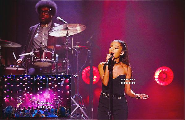 * 01.02.15 : Ariana Grande a performé lors du « The Tonight Show with Jimmy Fallon » dans - New-York.  Plus: La jolie brune a interprété son nouveau single « One Last Time ». Puis a posté deux photos sur Twitter en remerciement, 1 - 2 *