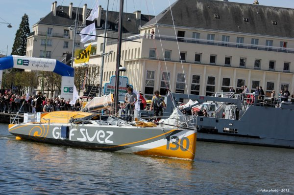 D�part du NORMANDY CHANNEL RACE 2013.