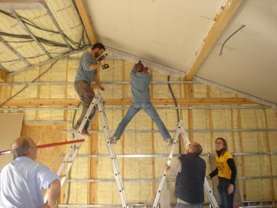 Placo plafond jour construction de notre maison en bois - Plafond placo design ...