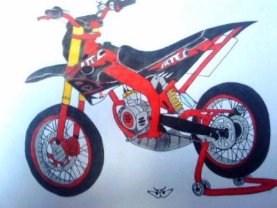 Comment dessiner une derbi - Comment dessiner une moto cross ...