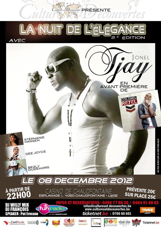 """Jonel Tjay sera pr�sent le 08 D�cembre 2012 lors de """"La nuit de l'�l�gance"""" au Casino de Chaudfontaine - Li�ge en Belgique"""