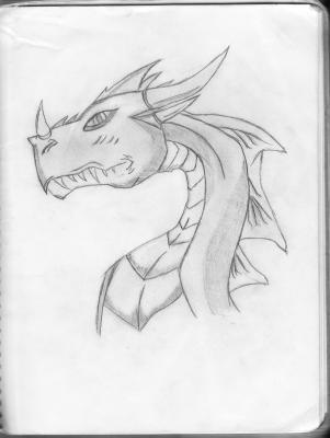 Dessin de tete de dragon l 39 ange noir - Dessin de tete de dragon ...