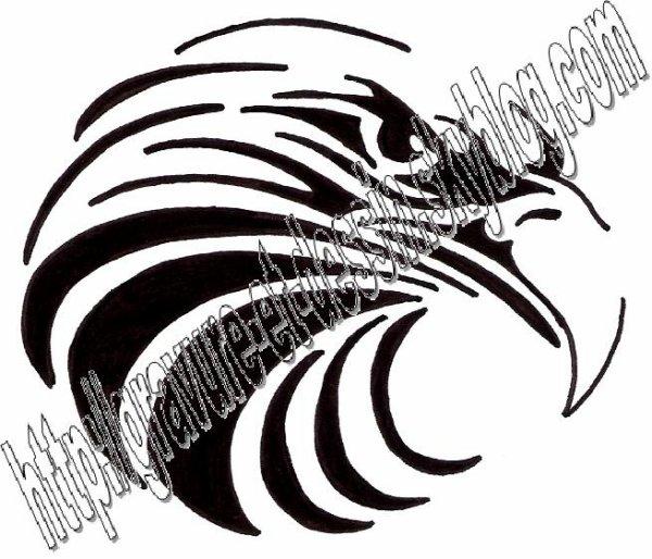Gravure aigle tribal 03 blog de gravure et dessin - Dessin de aigle ...