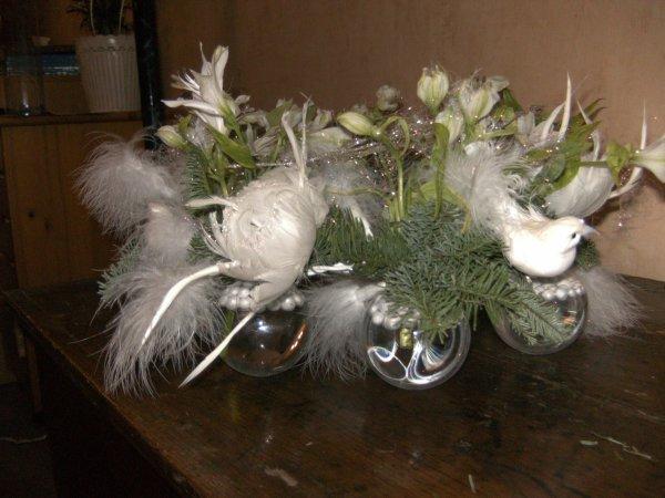 Centre de table pour no l version jour la passion des fleurs for Centre de table pour noel