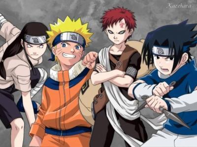 naruto sasuke gaara et neji - mangas Gaara And Neji