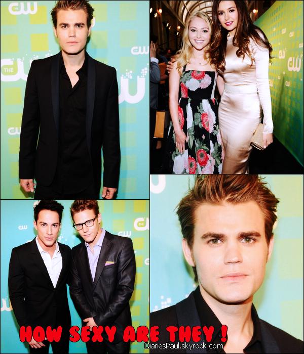 """. PAUL ET LE CAST DE THE VAMPIRE DIARIES A LA CW UPFRONTS  . Le cast de la s�rie s'est rendu � la CW Upfronts � New York City le 17 Mai dernier. Paul s'est alors exprim� sur la mani�re dont il voulait voir la saison 3 se terminer : """"J'aimerais que l'�pisode final de The Vampire Diaries, qu'importe la saison que ce soit, mette en sc�ne Stefan et Damon unis en tant que couple. Je rigole ! Je veux juste qu'ils s'aiment comme des fr�res."""" Ouf, nous voil� rassur�s ! . ."""