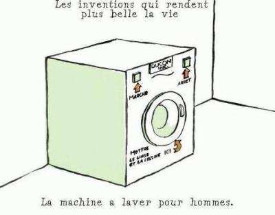 la machine a laver pour les hommes blog d 39 humour de galou. Black Bedroom Furniture Sets. Home Design Ideas