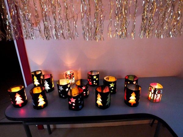 Ce matin fabrication de lanternes de no l ensuite d co la m diath que cet - Fabrication de decoration de noel ...