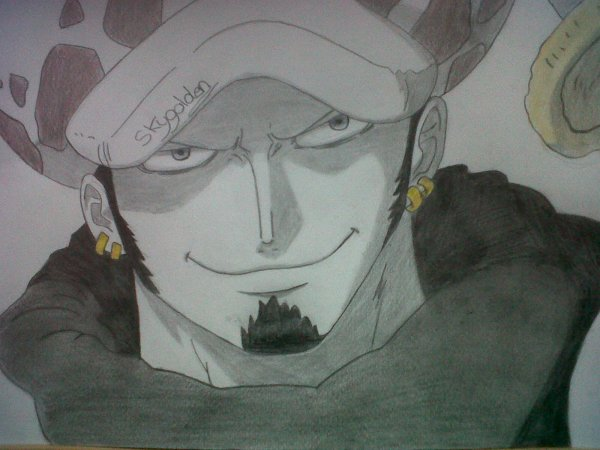 comment dessiner trafalgar law