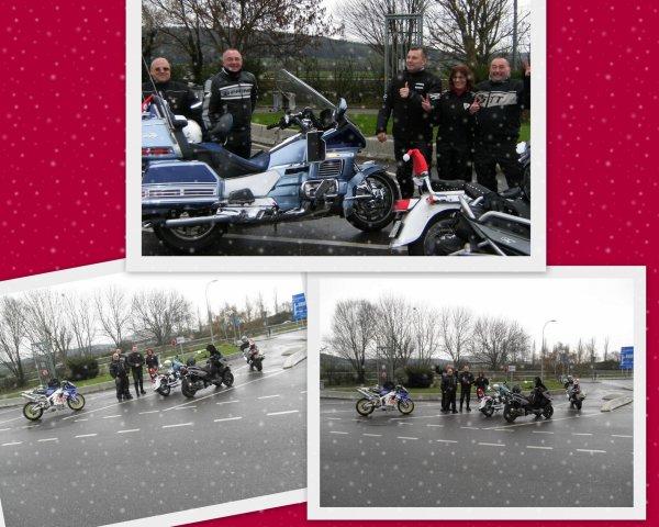 13 d�cembre, balade des p�res No�l en moto � Metz (57)
