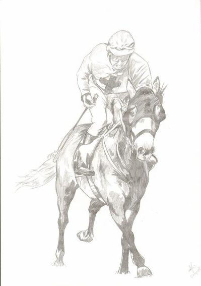 Blog de dessin lili04 - Dessin cheval de course ...