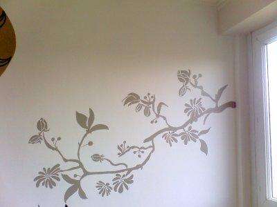Une de mes deco mural fait mains a la peinture blog de for Decoration murale fait main