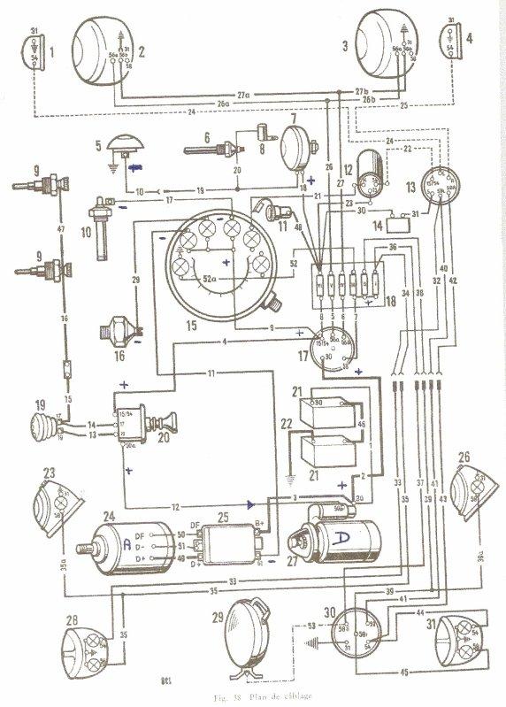 schema branchement phare tracteur