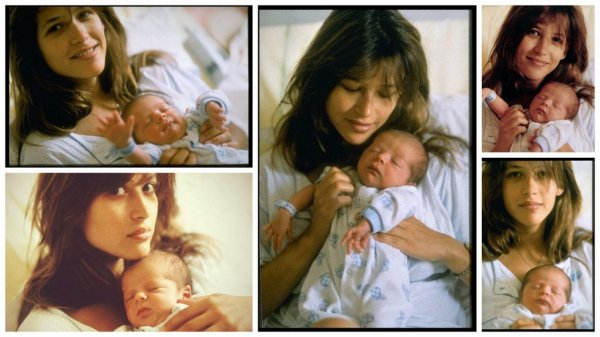 Photo of Sophie Marceau & her Son  Vincent Żuławski