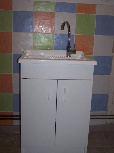 Bac laver pos bienvenue chez nous - Meuble buanderie avec bac a laver ...