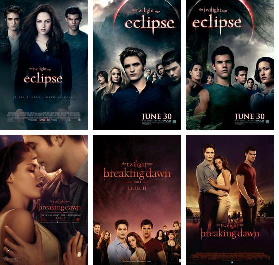 Les affiches des films