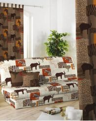 housse clic clac motif africain Canape Style Africain   Maison Design   Wiblia.com housse clic clac motif africain