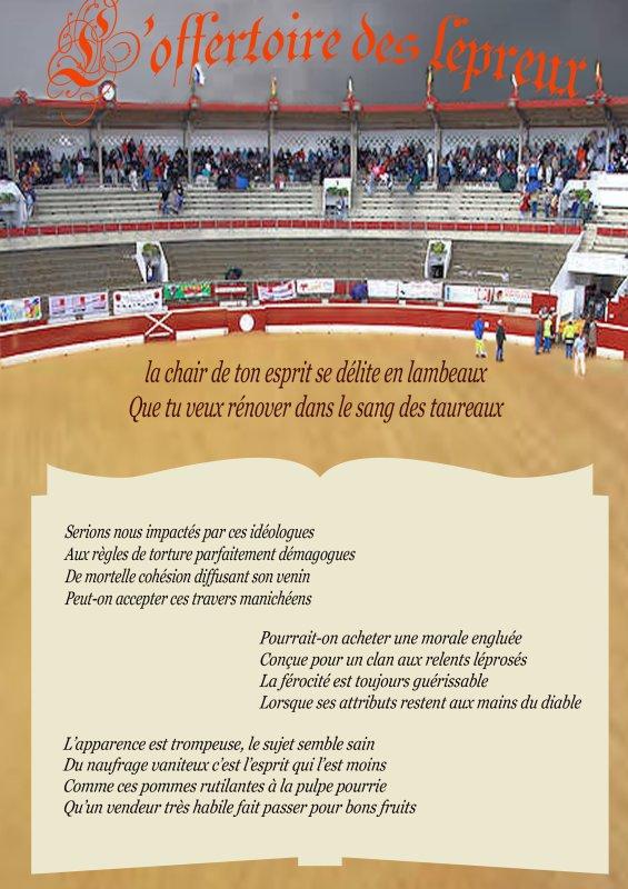 """Poème (anti corrida)  """"L'Offertoire des lépreux """" de jean Poignet 3210763267_1_2_OoYpYBCK"""