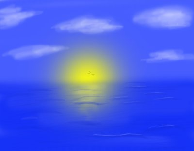 Coucher de soleil espace dessin de deffight alias - Dessin coucher de soleil ...