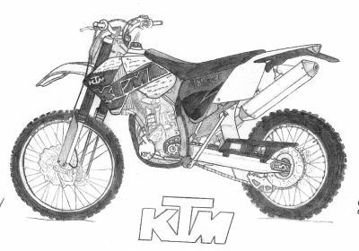 Moto cross dessins - Dessin de motocross ...