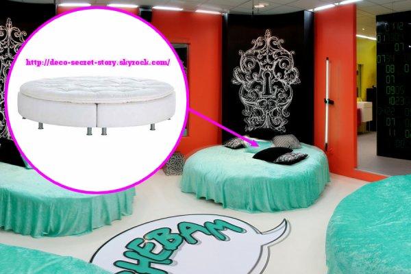lit rond sultan sandane deco secret story. Black Bedroom Furniture Sets. Home Design Ideas