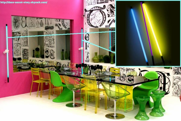 neon mural deco secret story. Black Bedroom Furniture Sets. Home Design Ideas