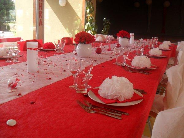 Gut bekannt Photos Decoration Mariage Rouge Et Blanc ~ Meilleure Source D  BA01