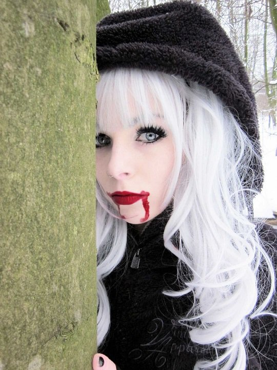 Ira Vampira Blond Black Emo Scene Hair Iravampira
