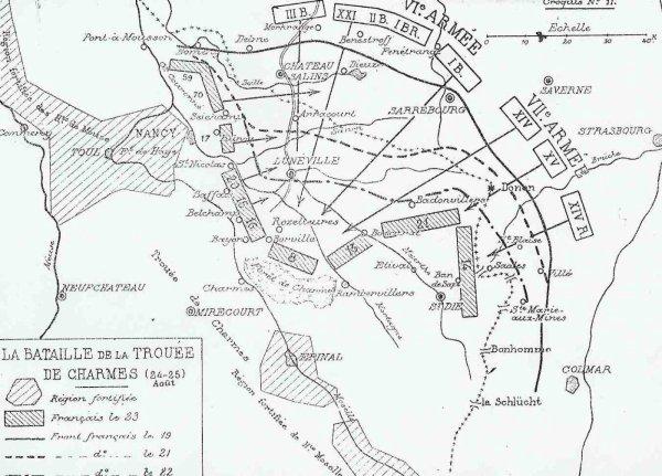 BATAILLE DE LA TROUEE DES CHARMES : DU 22 AU 26 AOUT 1914