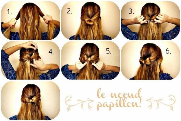 Tuto coiffure le noeud chic et facile - Coiffure facile a faire le matin ...