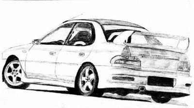 Dessin d 39 une subaru impreza gt turbo 2005 siwrxsti - Coloriage subaru ...