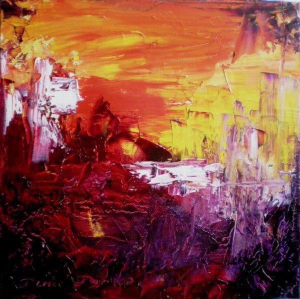Peinture abstraite sur toile peinture l 39 huile au couteau la peinture - Peinture abstraite a l huile ...