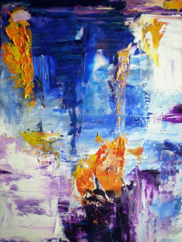 Tableaux peinture abstraite au couteau artcontemporain huile cotation 46 38 c - Peinture huile abstraite ...