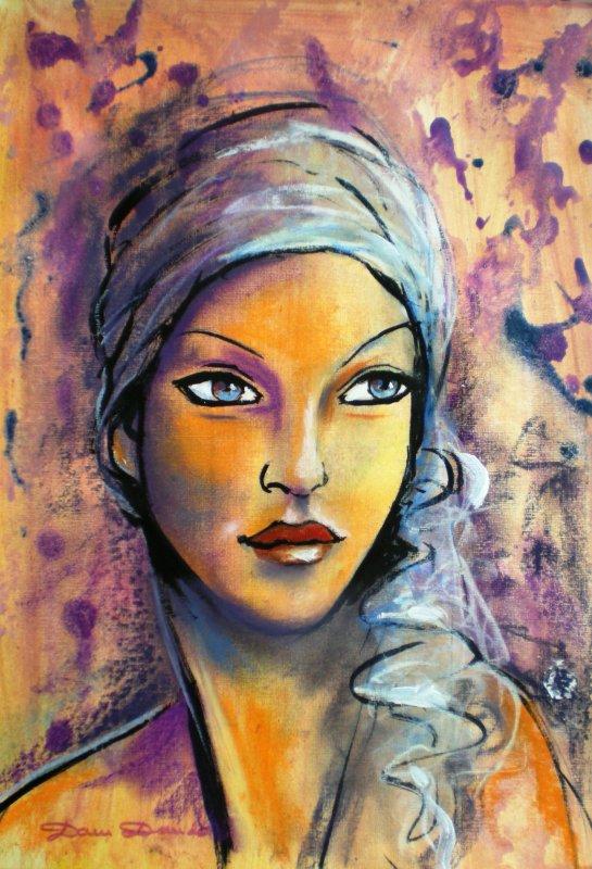 dam domido quot quot portrait r 233 tro peinture d 233 co expressioniste l 233 nigmatique dame du lac