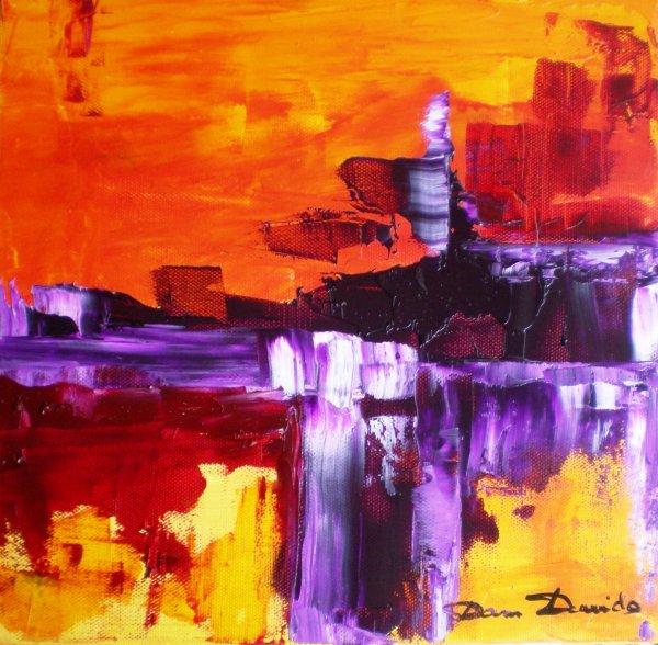 Peinture abstraite tableaux abstrait peinture au couteau la peinture le - Peinture abstraite a l huile ...