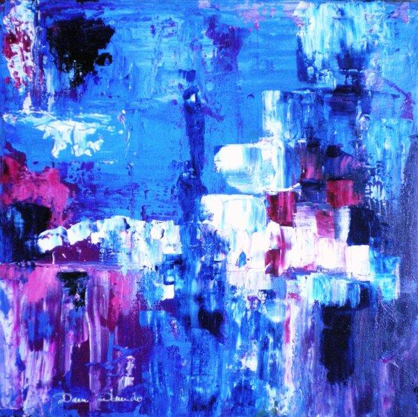 Peinture abstraite sur toile peinture l 39 huile au couteau la peinture - Peinture abstraite huile ...