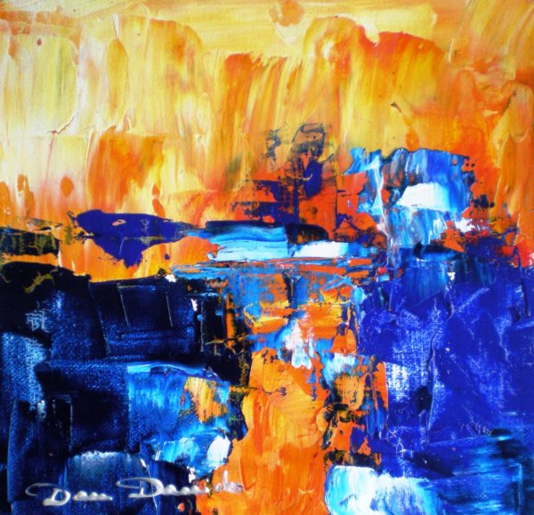 Dam domido carr s d 39 artiste abstraction lyrique sur toile for Abstraction lyrique