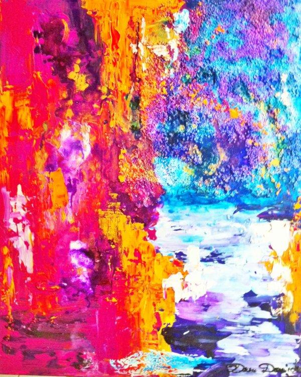 Dam domido abstraction lyrique sur toile 61x50 cm for Abstraction lyrique