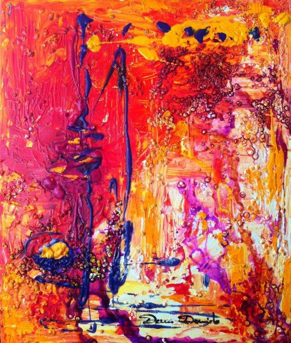 Peinture abstraite sur toile la peinture le dessin mes for Peintures sur toile