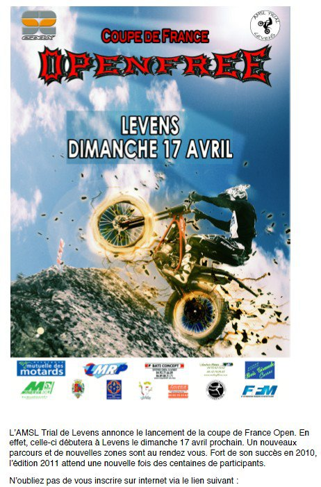 Ligue openfree Levens 17 04 11