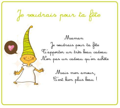 Petit poeme pour la fete des meres blog de nounoubricole02 - Poeme de noel pour maman et papa ...