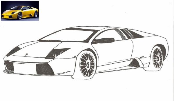31 me dessin lamborghini les dessinateurs du dimanche. Black Bedroom Furniture Sets. Home Design Ideas