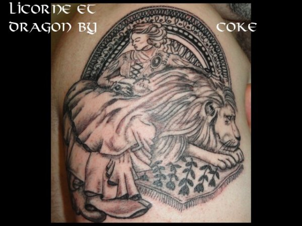 Tatouage faucheuse et dame au lion tattoo tatouage et piercing le body art est - Tatouage la faucheuse ...