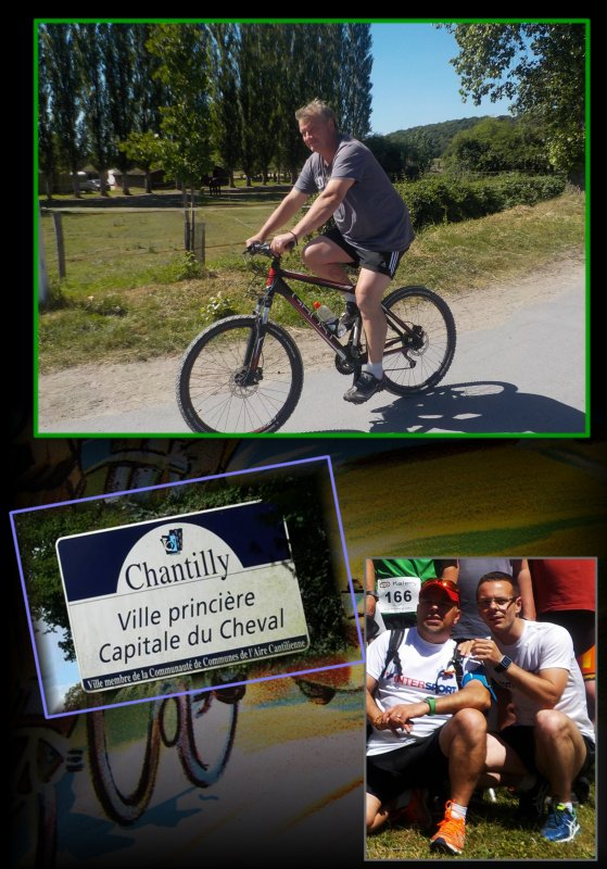 A bicyclette vers Chantilly...